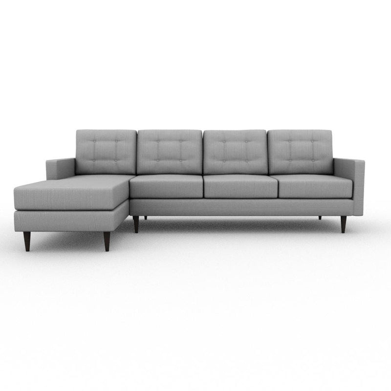 Jasper Square Arm Upholstered Sofa Chaise XL - What A Room Furniture