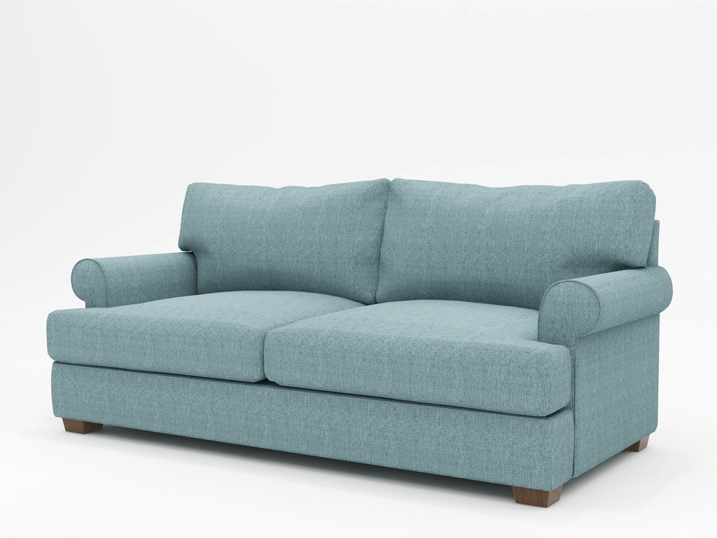 Biscanye Round Arm Upholstered Sofa - What A Room