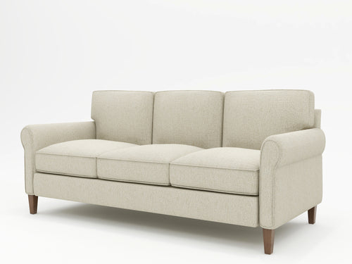 Mayfair Round Arm Upholstered Sofa - What A Room Furniture