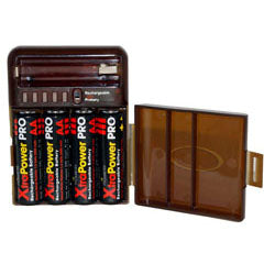 PRO BATTERY STORAGE CASE & TESTER AA/AAA D