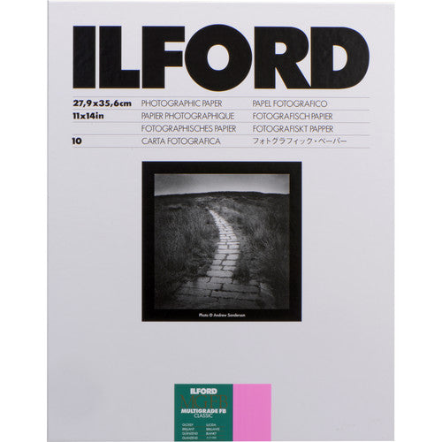 ILFORD FB PHOTO PAPER (11X14, 10 SHEETS) - GLOSSY