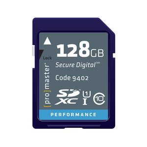 PRO SD CARD PERFORMANCE - 128GB (266X 40R/20W)9402