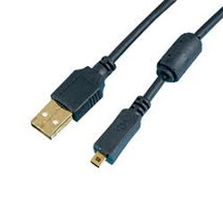 PRO USB 2.0 CABLE A-MINI 8B 6' - REPL. NIKON UC-E6 (5405)