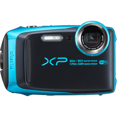 FUJI FINEPIX XP120 WATERPROOF CAMERA - SKY BLUE (2253)