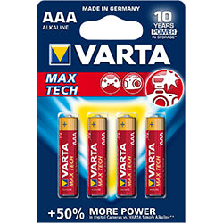PRO VARTA BATTERY AAA MAX TECH 4-PACK