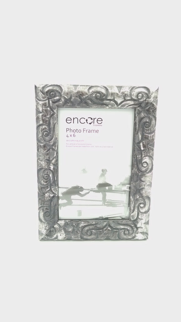Encore 4x6 Ornate Silver / Black