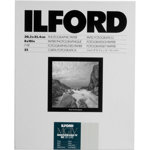 ILFORD RC BW PHOTO PAPER (8X10, 25 SHEETS) - PEARL