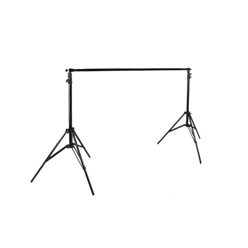 PRO TELESCOPING BACKDROP STAND SET - 2 STANDS & BAR (9811)