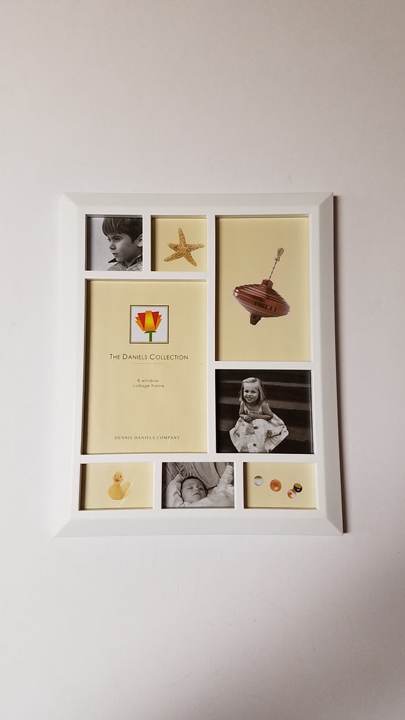 Dennis Daniels 9x11 8 Window Collage White