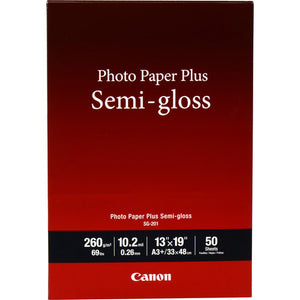 CANON PHOTO PAPER 13x19 - SEMI-GLOSS (SG-201, 50 SHEETS)