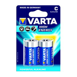 VARTA C-CELL BATTERY 2 PACK