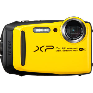 FUJI FINEPIX XP120 WATERPROOF CAMERA - YELLOW