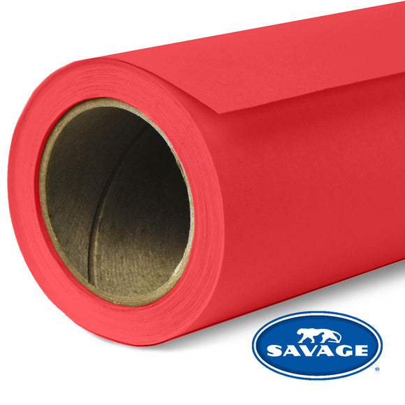 SAVAGE PAPER BACK DROP 107 - PRIMARY RED
