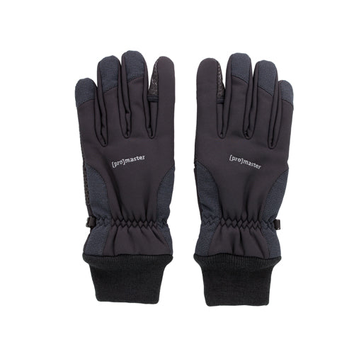 PRO PHOTO GLOVES - 4-LAYER BLACK LARGE (7482)