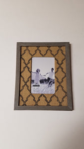 Malden 4x6 Burlap Mat Gray Wood