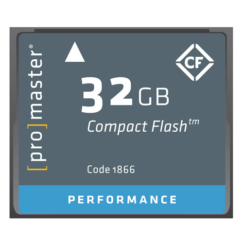 PRO CF CARD PERFORMANCE - 32GB (500X 75R/40W)1866