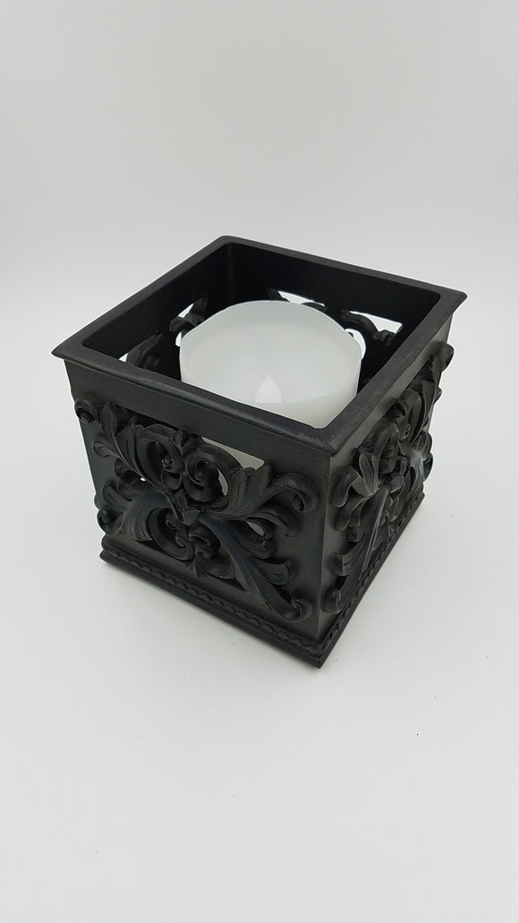 Prinz 5x5x5 Antique Black Square Candle Holder