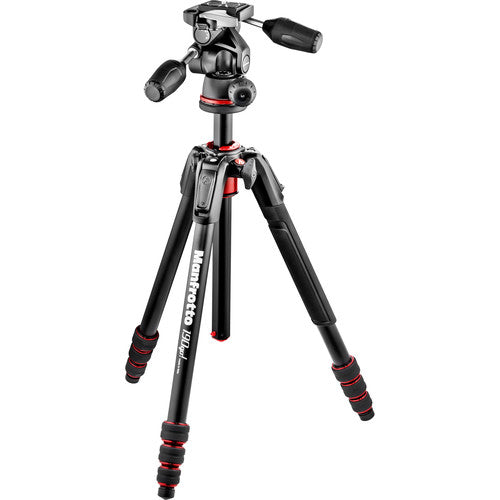 MANFROTTO TRIPOD - 190 GO! MK190GOA4B-3WUS W/MH804-3W 3-WAY HEAD