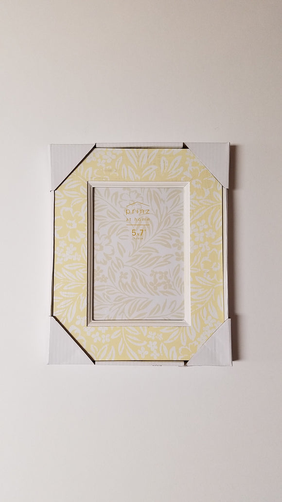 Prinz 5x7 Fields Floral Pattern Yellow & White