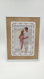 Malden 4x6 Lace Laser Cut Out White/Natural