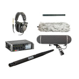 Audio Production Kit (Tascam Recorder, Rode NTG2 Mic w/Blimp & Boom Pole, Headphones, Bag) Rental - Provo