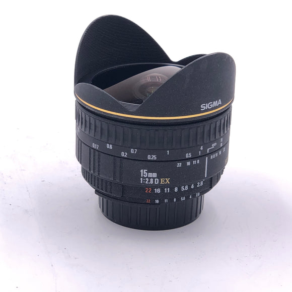 Used Sigma 15mm 2.8D EX Nikon (SLC)