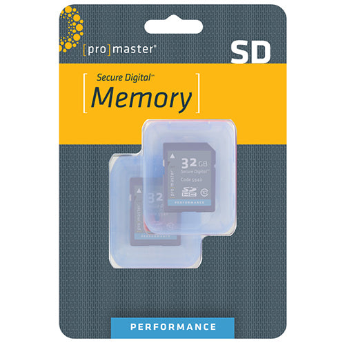 PRO SD CARD PERFORMANCE - 32GB 2-PACK (163X 24R/17W, 3414)