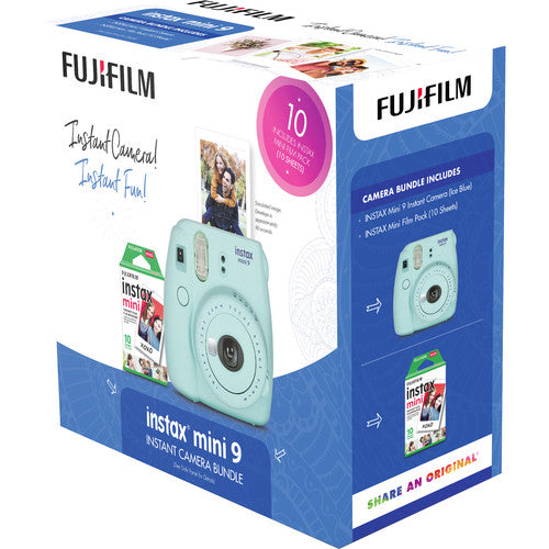 FUJI INSTAX MINI 9 BUNDLE BLUE