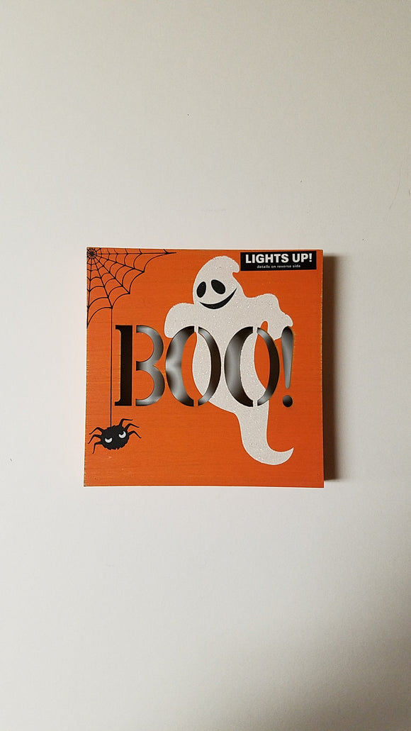 Prinz LED Plaque 'Boo!'
