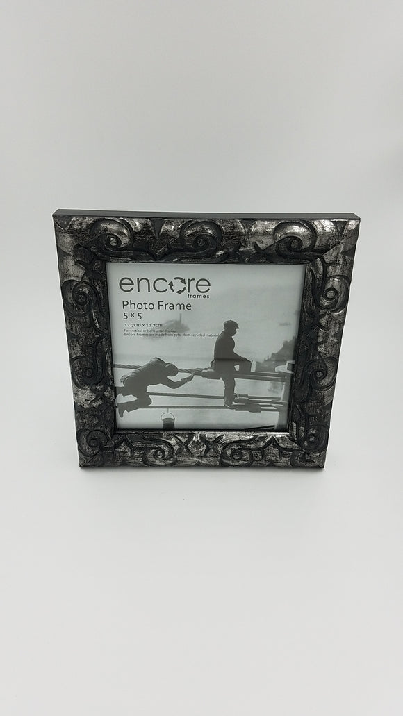 Encore 5x5 Ornate Silver / Black
