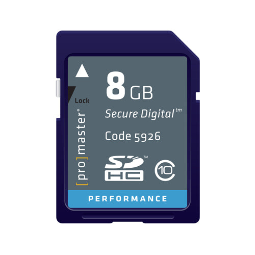 PRO SD CARD PERFORMANCE - 8GB (163X 24R/17W)(2124) D.