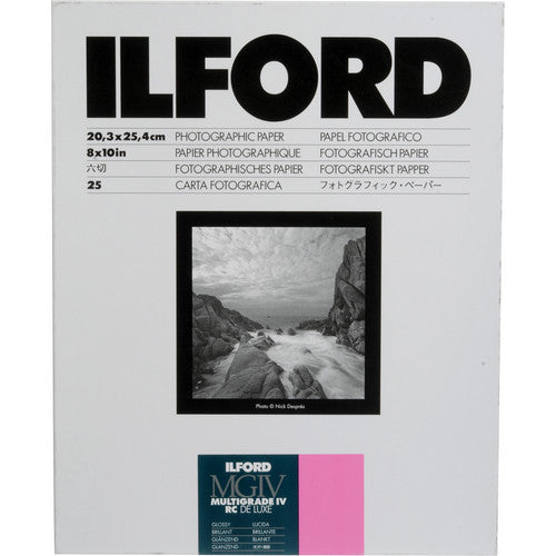 ILFORD RC BW PHOTO PAPER (8X10, 25 SHEETS) - GLOSSY