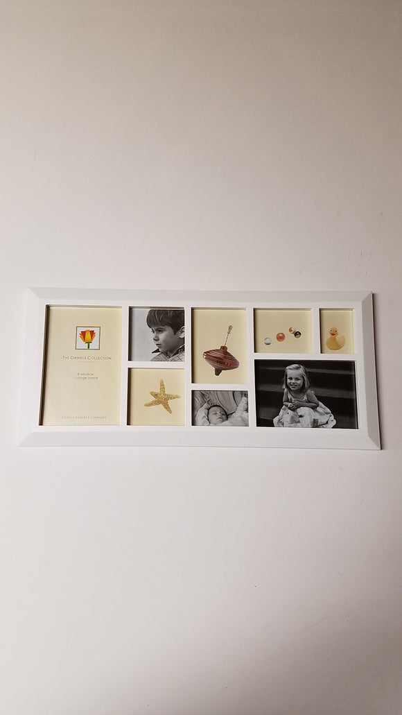 Dennis Daniels Frame 6x15 8 Window Collage White