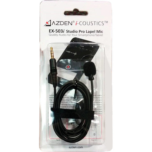 AZDEN LAVALIER LAPEL MIC FOR SMARTPHONES AND TABLETS (EX-503i)