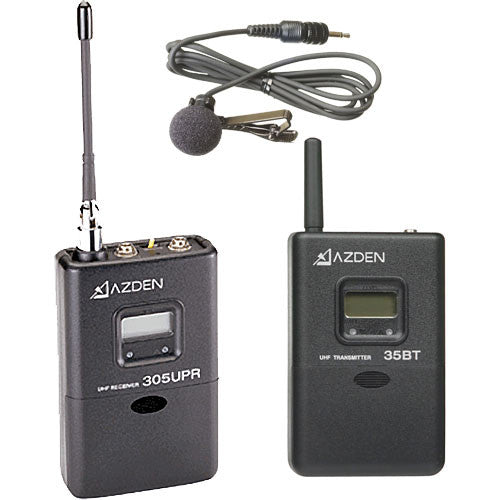 AZDEN LAVALIER LAPEL UHF WIRELESS UHF MIC KIT (305LT) D