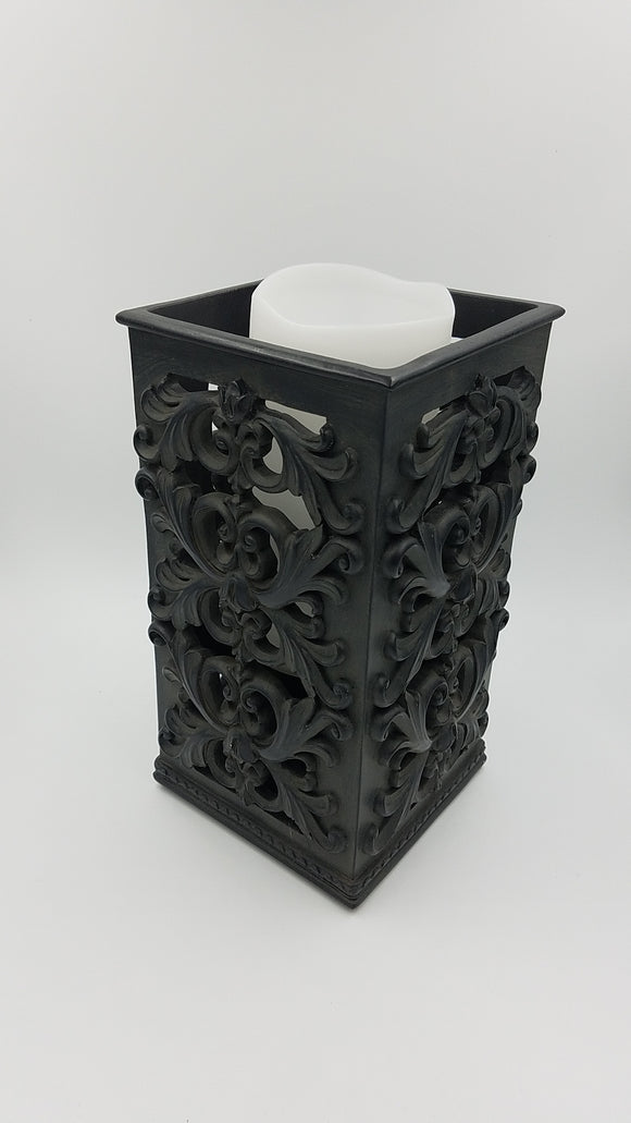 Prinz 5x5x9 Antique Black Square Candle Holder