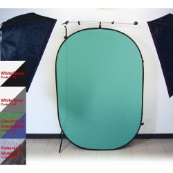 PRO POP-UP BACKDROP 6X7 - BLACK/WHITE (2139)