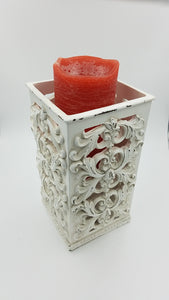 Prinz 5x5x9 Antique Cream Square Candle Holder
