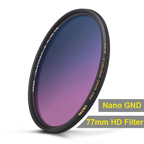 NiSi 77mm Nano Coating Graduated Neutral Density Filter GND16 1.2