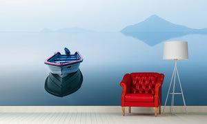 A Boat On The Lake Wall Mural Art - LA31 Store