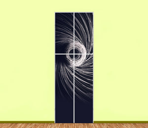 Abstract Spiral Wiring Utility Cabinet Sticker Art Sets (4pieces) - LA31 Store