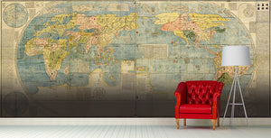 Ancient World Map Wall Mural Art - LA31 Store