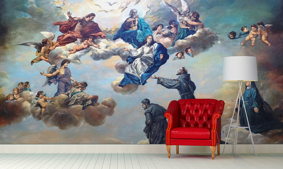 LA31 Angels & Cathedral Wall Mural Art l Wall Mural l Stickers l Decal l HDB l Condo l Living l Email: LamedAleph31@gmail.com