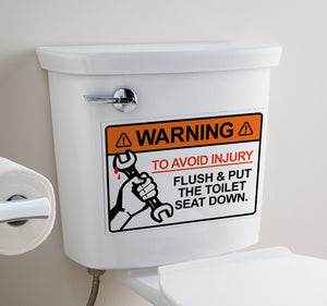 Avoid Injury - Toilet Art - LA31 Store