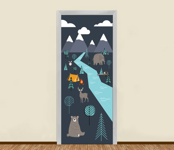 Camp in the Wild Residential Door Art - LA31 Store