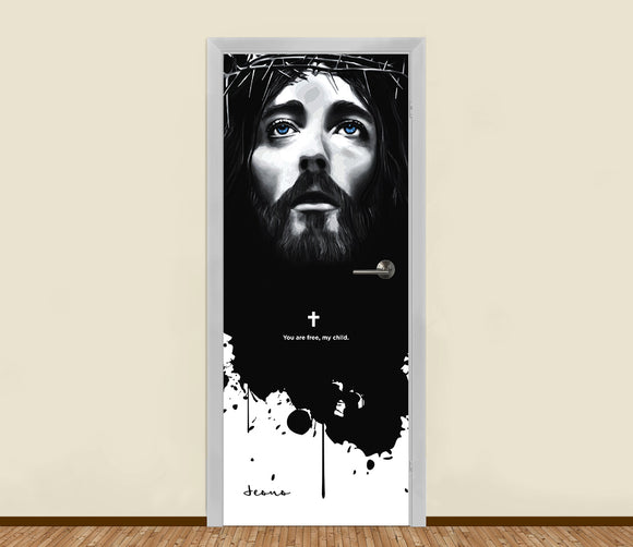 You are Free with Christ Residential Door Art - LA31 Store