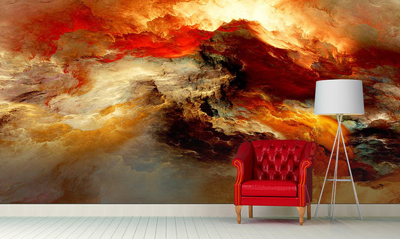 Fiery Mountain Dimension Wall Mural Art - LA31 Store