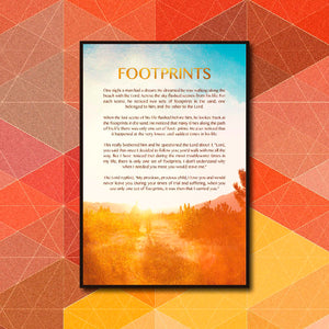 Footprints Poster Art - LA31 Store