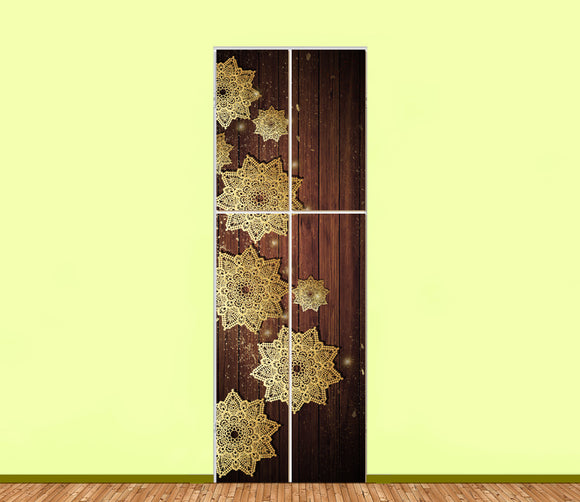 Golden Flakes Utility Cabinet Sticker Art Sets (4pieces) - LA31 Store