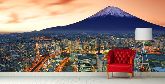 Japan Mount Fuji City Wall Mural Art - LA31 Store